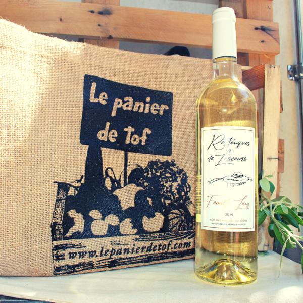 """Le Panier de Tof Livraison de paniers de fruits et légumes - Vin blanc Restanques de Lascours"""" IGP Bouches du Rhône 2019"""