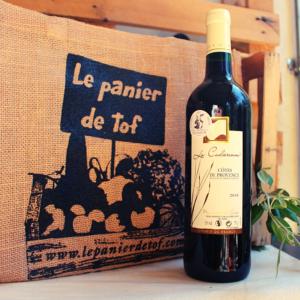 Le Panier de Tof Livraison de paniers de fruits et légumes - Vin rouge Côtes de Provence La Cadierenne AOC 2018