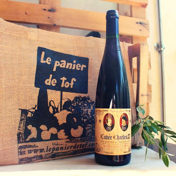 Le Panier de Tof Livraison de paniers de fruits et légumes - Vin rouge Cuvée Charles IX IGP